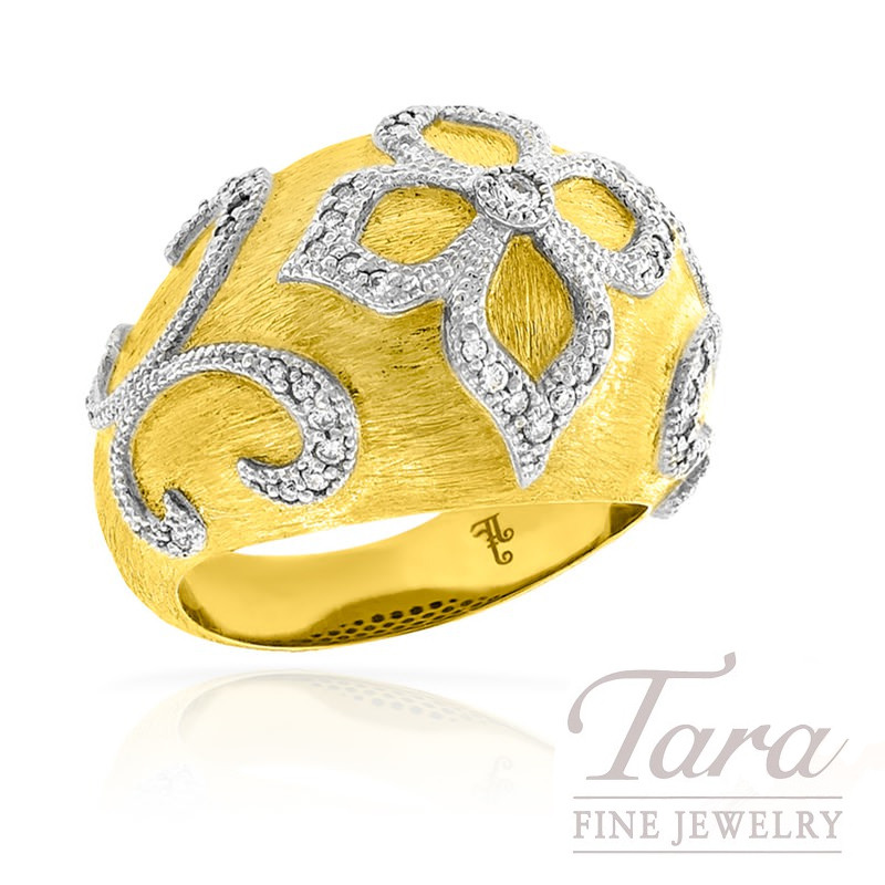 Diamond Ring by Jude Frances in 18K Yellow Gold, .28tdw