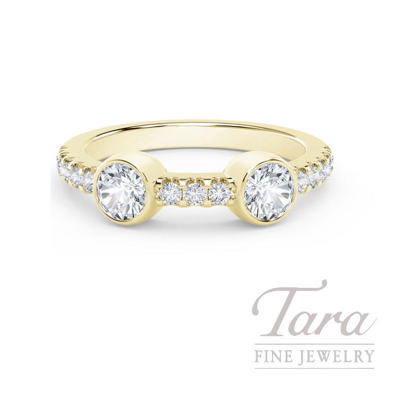 Forevermark 18k Yellow Gold Diamond Bezel Ring, 0.33TDW