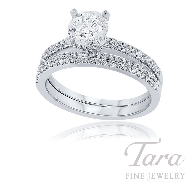 18k White Gold Forevermark Diamond Wedding Set, 1.00CT Forevermark Diamond, .31TDW