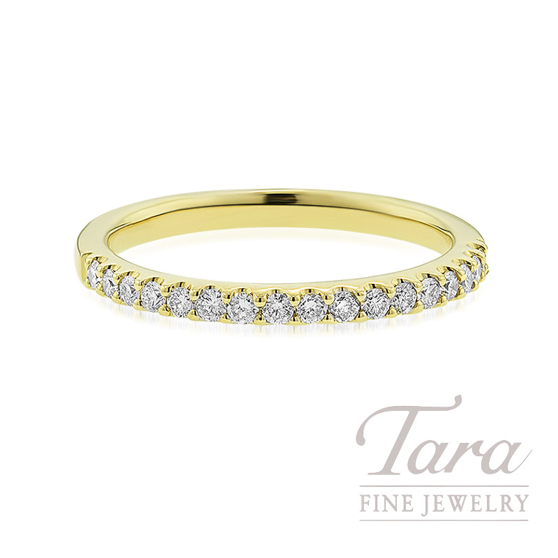 18K Yellow Gold Diamond Band, 2.4G, .25TDW