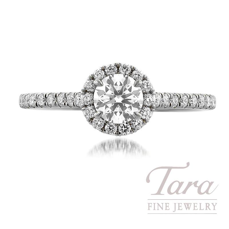 Forevermark Platinum Diamond Engagement Ring, 0.52CT. I-SI2 Forevermark Diamond, 38 Round Forevermark Diamonds 0.30TDW