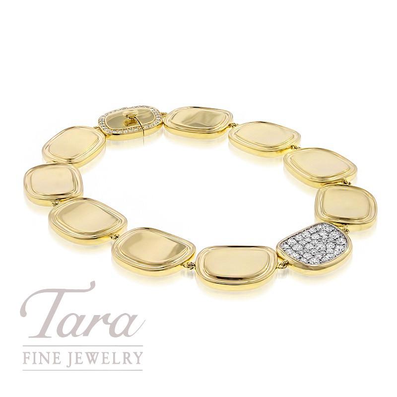 "Roberto Coin 18k Yellow Gold Diamond Bracelet, .84TDW, ""Black Jade"" Collection"
