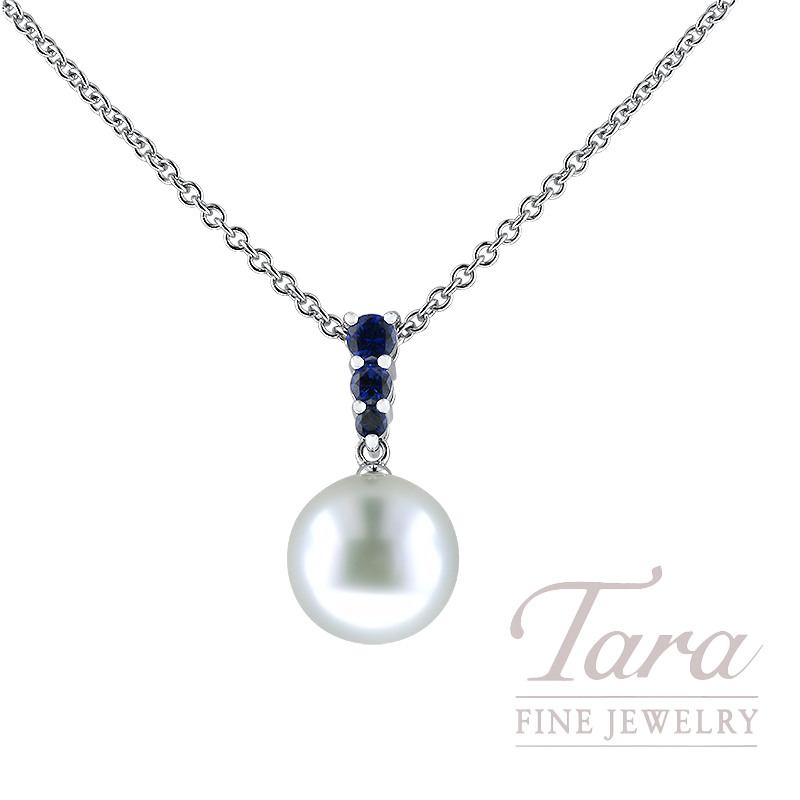 Mikimoto 18k White Gold 10mm Pearl And