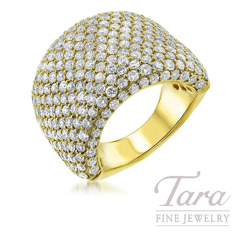 18K Yellow Gold Diamond Ring, 14.9G, 5.12TDW