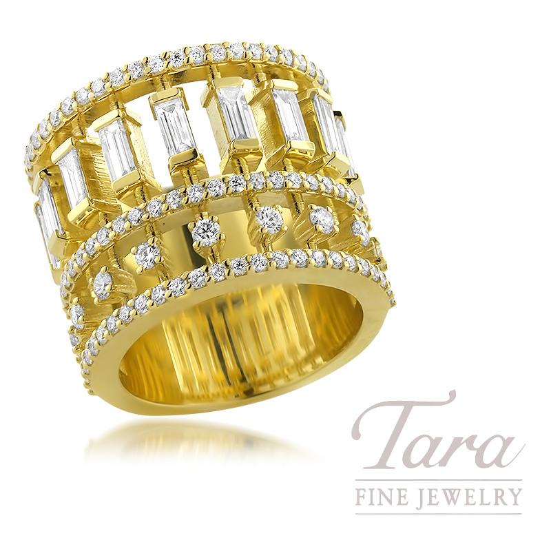 Norman Covan 18K Yellow Gold Diamond Ring, 2.12TDW