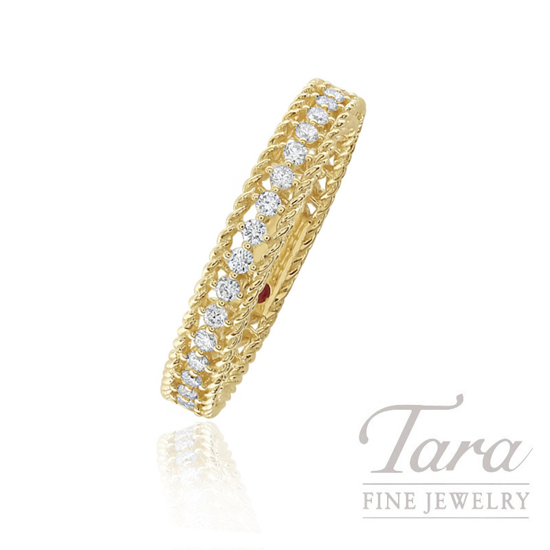 Roberto Coin 18k Yellow Gold Eternity Diamond Band, .43TDW, Symphony Collection