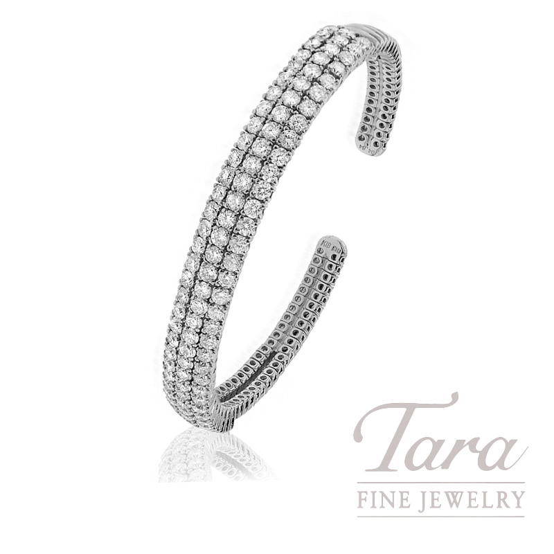 18k White Gold Diamond Bangle, 24.7G, 4.54TDW