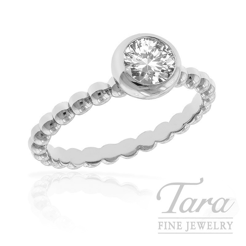 Diamond Ring in 18k White Gold, 0.436ct