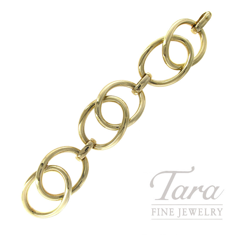 18K Yellow Gold Link Bracelet, 54.7G