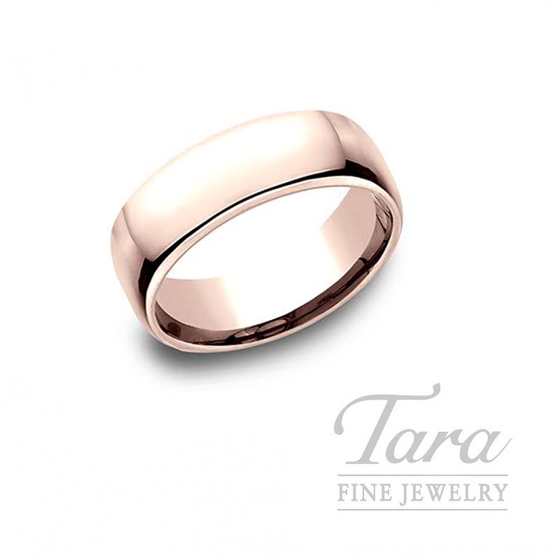 Gentlemen's 14k Rose Gold Wedding Band, 11.2G, Size 10