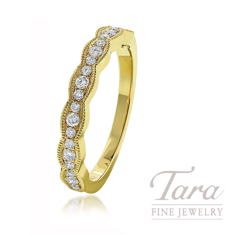 18K Yellow Gold Diamond Fashion Band, 3.1G, .24TDW