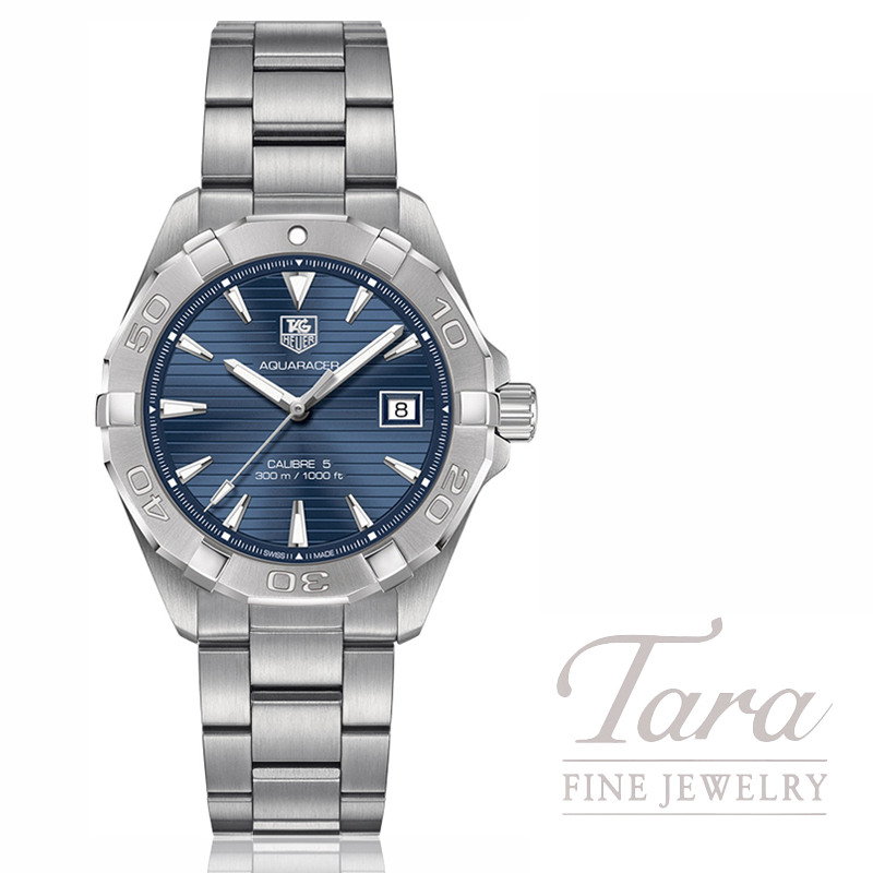 Tag Heuer Watch 40.5mm Aquaracer, Blue Dial