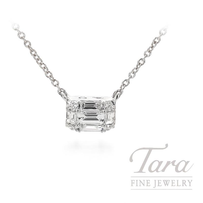 07ac57a29 18K White Gold Diamond Necklace 18