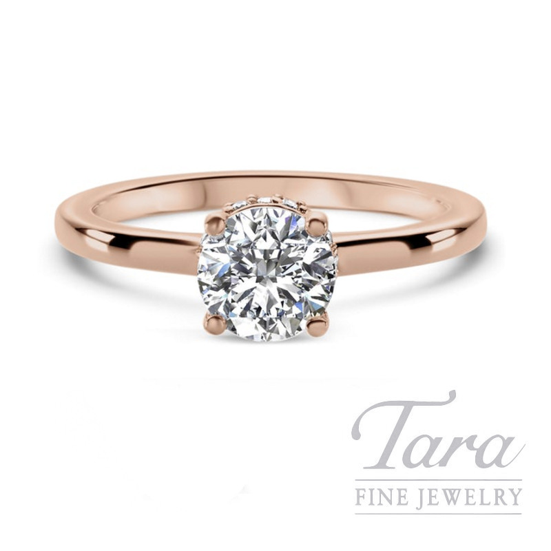 Ritani 18k Rose Gold Diamond Engagement Ring 3 5g 10tdw Center Stone Sold Separately Tara Fine Jewelry