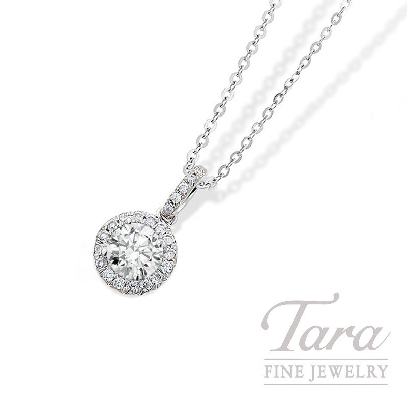 18k white gold round diamond halo pendant 203ct round diamond 18k white gold round diamond halo pendant 203ct round diamond 16tdw aloadofball Gallery