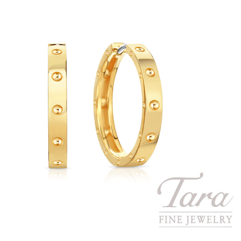 Roberto Coin 18k Yellow Gold Symphony Pois Moi Hoop Earrings, 20mm, 6.2G, Symphony Collection