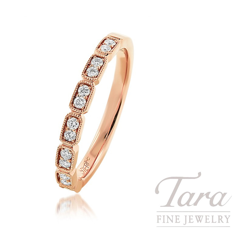 18K Rose Gold Diamond Fashion Band, 2.6G, .17TDW