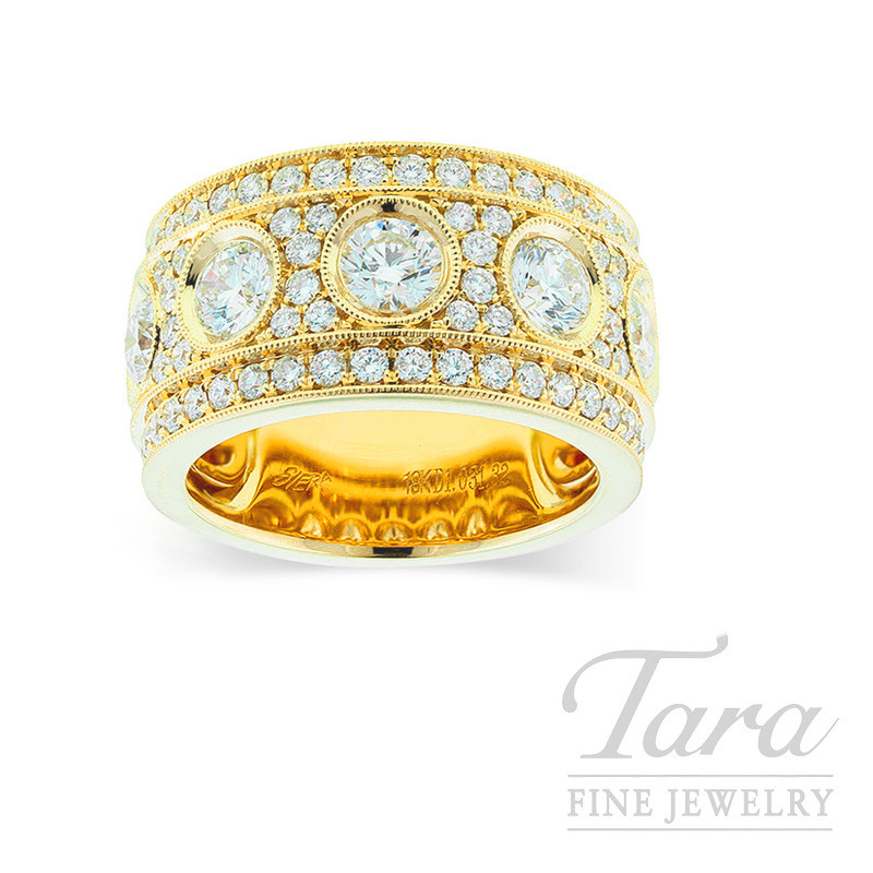 18k Yellow Gold Diamond Band, 15.0G, 2.36TDW