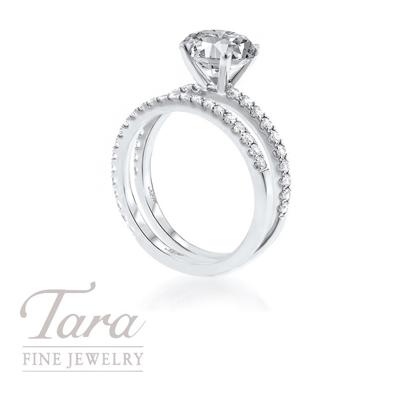 18k White Gold Diamond Wedding Set, .56TDW (Center Stone Sold Separately)