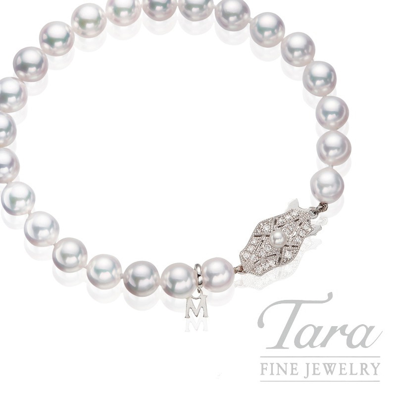 Mikimoto Akoya Pearl Bracelet in 18K White Gold, 7.0- 7.5mm