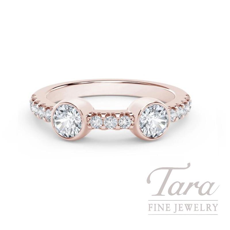 Forevermark 18k Rose Gold Diamond Bezel Ring, .33TDW