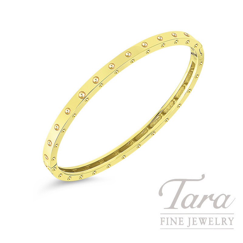 Roberto Coin 18K Yellow Gold Pois Moi Oval Bangle, 12.4G, Pois Moi Collectoin