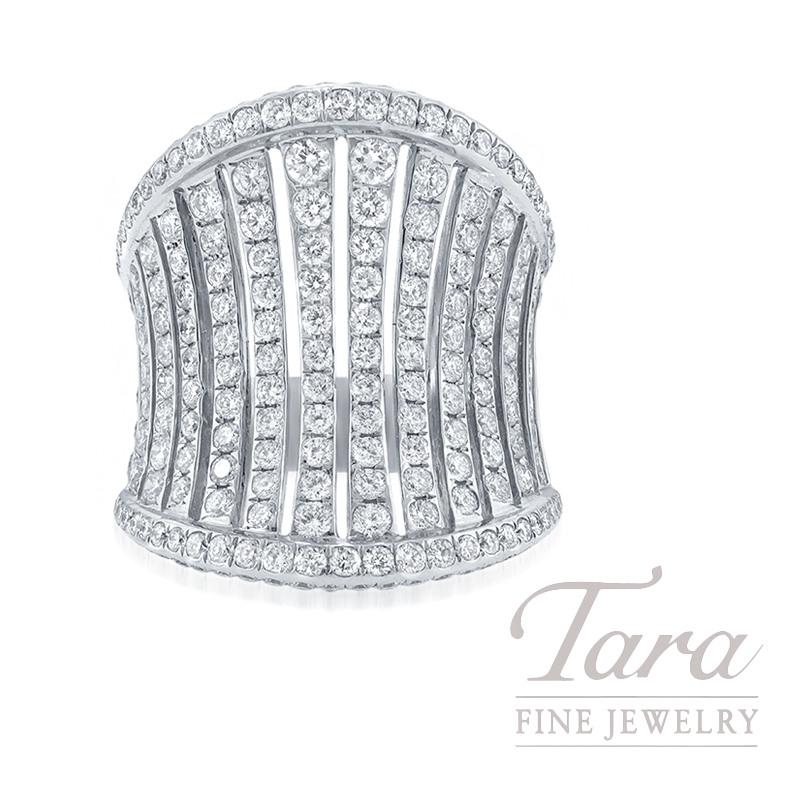 18K White Gold Diamond Fashion Ring, 12.8G, 3.27TDW