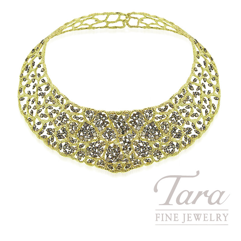 Roberto Coin 18k Yellow Gold Diamond Collar Necklace, 22.24TDW
