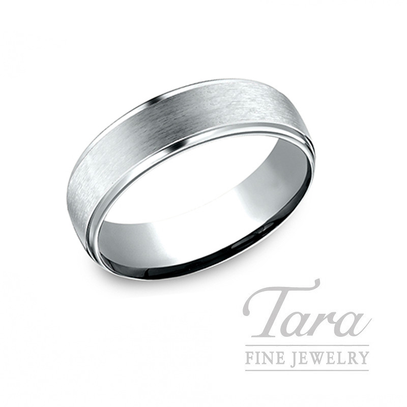 Gentlemen's 18k White Gold Wedding Band, 10.6G
