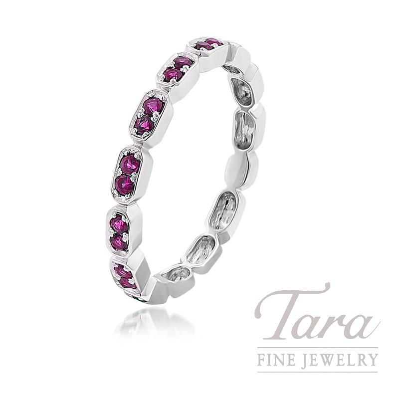 18K White Gold Pink Sapphire Ring, 2.0G, .20TGW Pink Sapphires, .01TDW