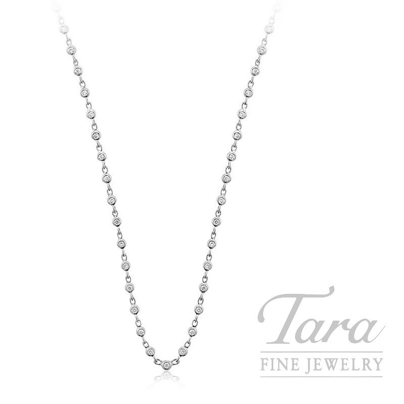 18K White Gold Diamond Bezel Chain - Click for Available Sizes!
