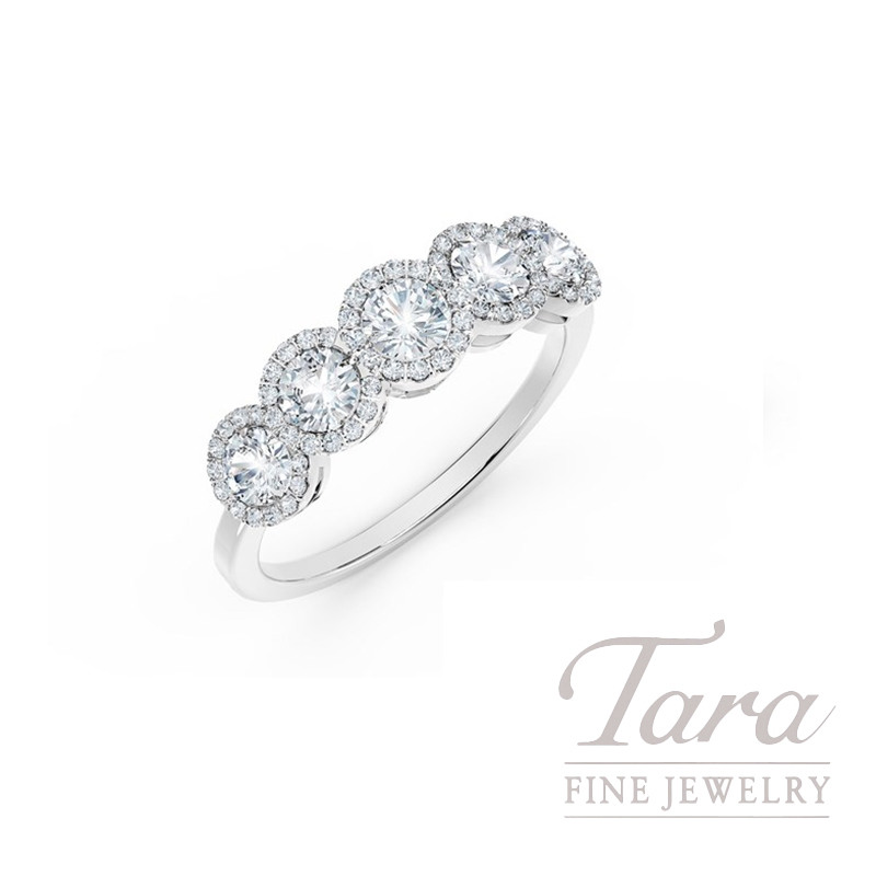 Forevermark 18K White Gold Diamond Halo Ring, .92TDW