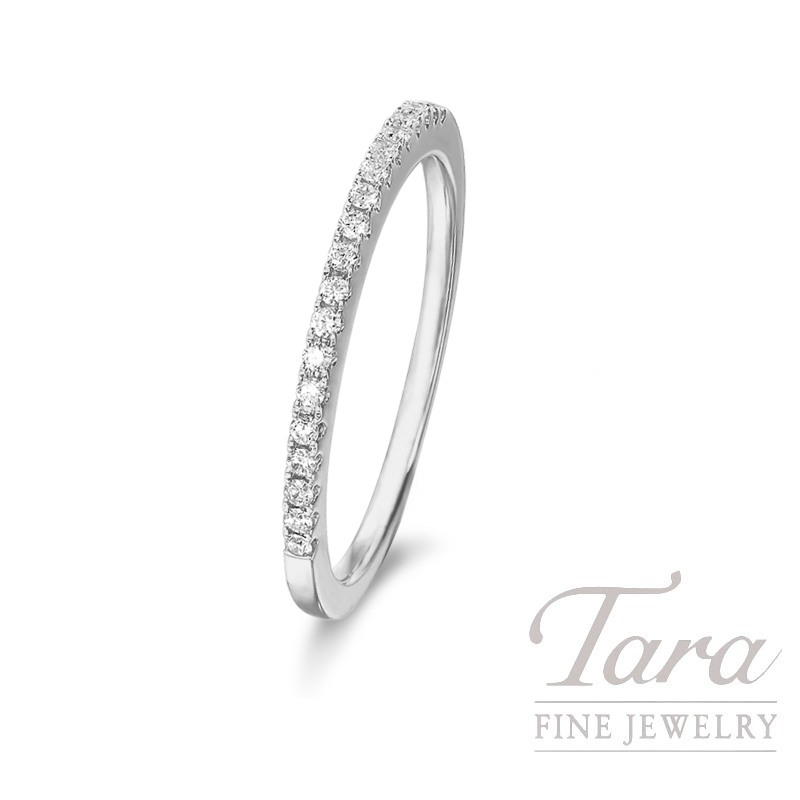 18k White Gold Diamond Band, 1.7G, .20TDW