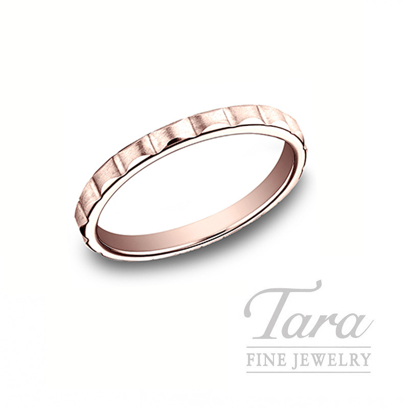 18K Rose Gold Stackable Band, 2.4G