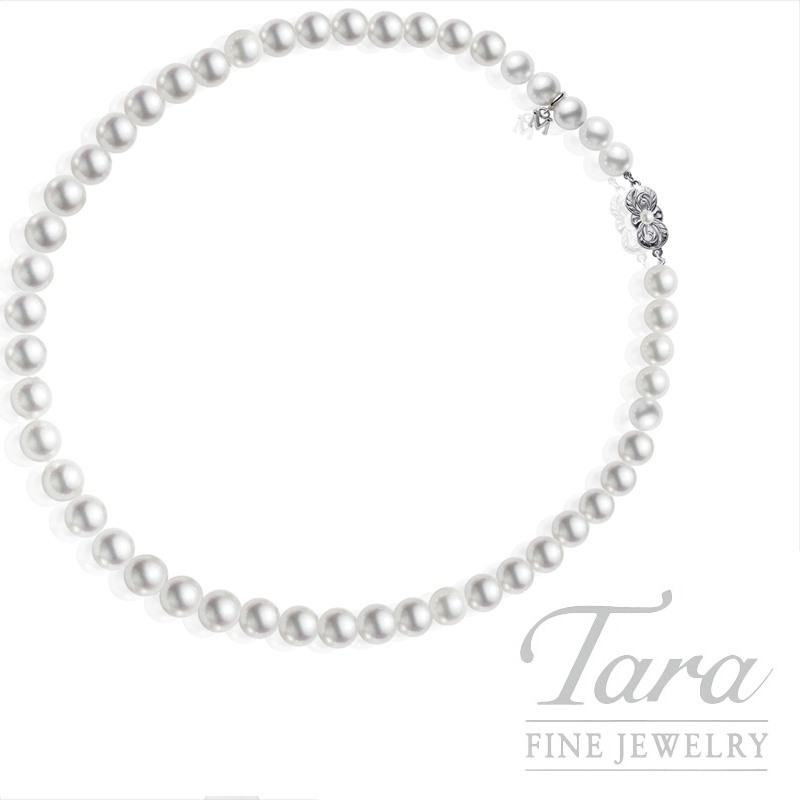 Mikimoto Pearl Strand With 18K White Gold Clasp- Click For Available Sizes!