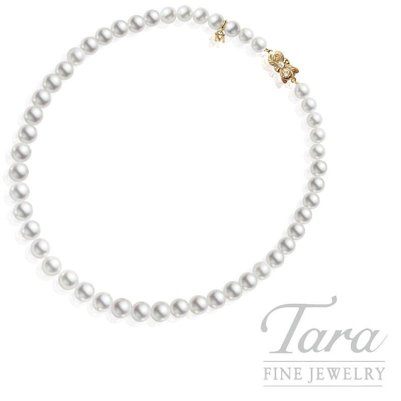 Mikimoto Pearl With Yellow Gold Traditional Clasp- Check For available Sizes!