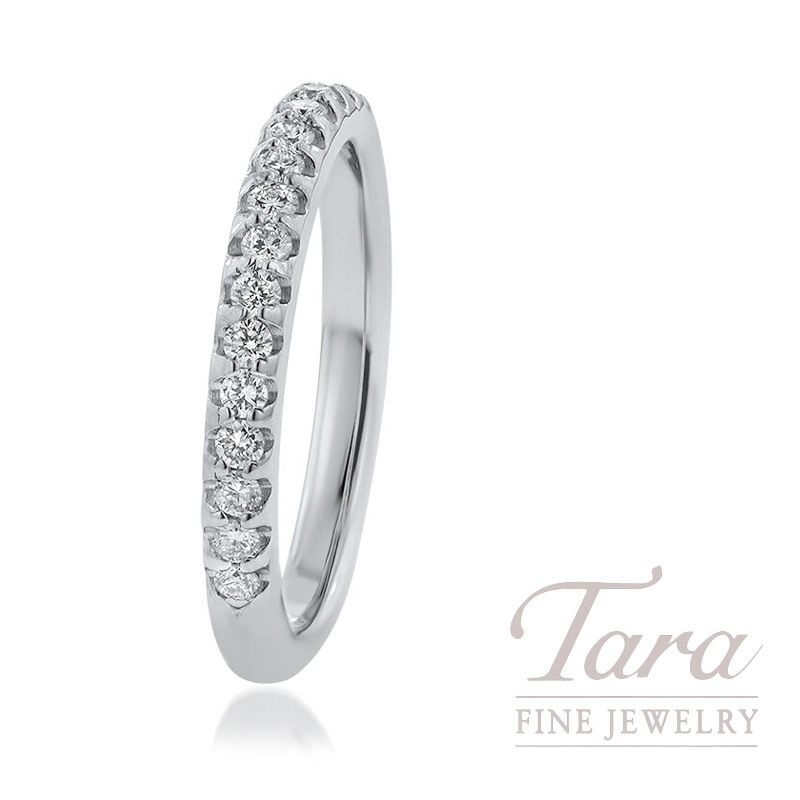 18k White Gold Diamond Band, 3.3G, .30TDW