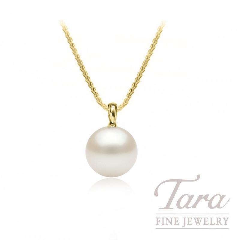 Mikimoto 18k Yellow Gold Akoya Pearl Pendant, 10mm Pearl