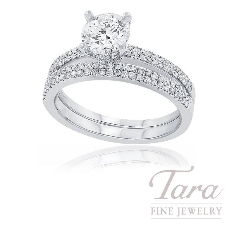 18k White Gold Diamond Wedding Set, .31TDW (Center Stone Sold Separately) - Click for Available Sizes!