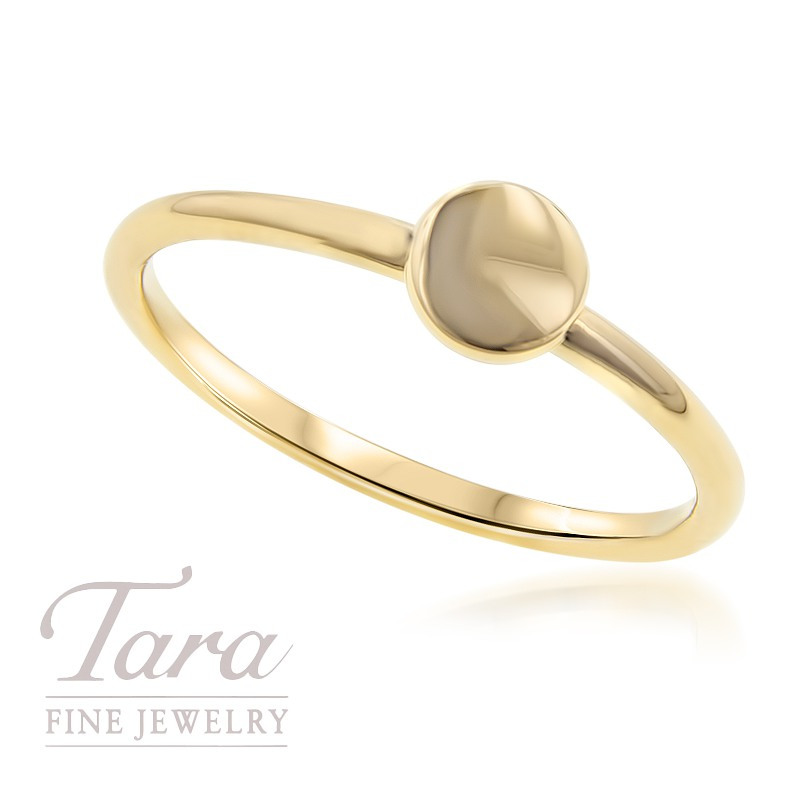 18K Yellow Gold Circle Stackable Ring