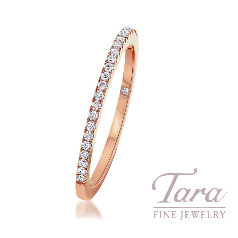 18K Rose Gold Diamond Band, 1.4G, .15TDW