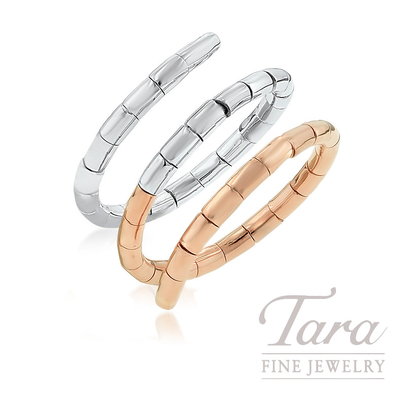 18k Rose And White Gold Wrap Ring 6 3g Tara Fine Jewelry