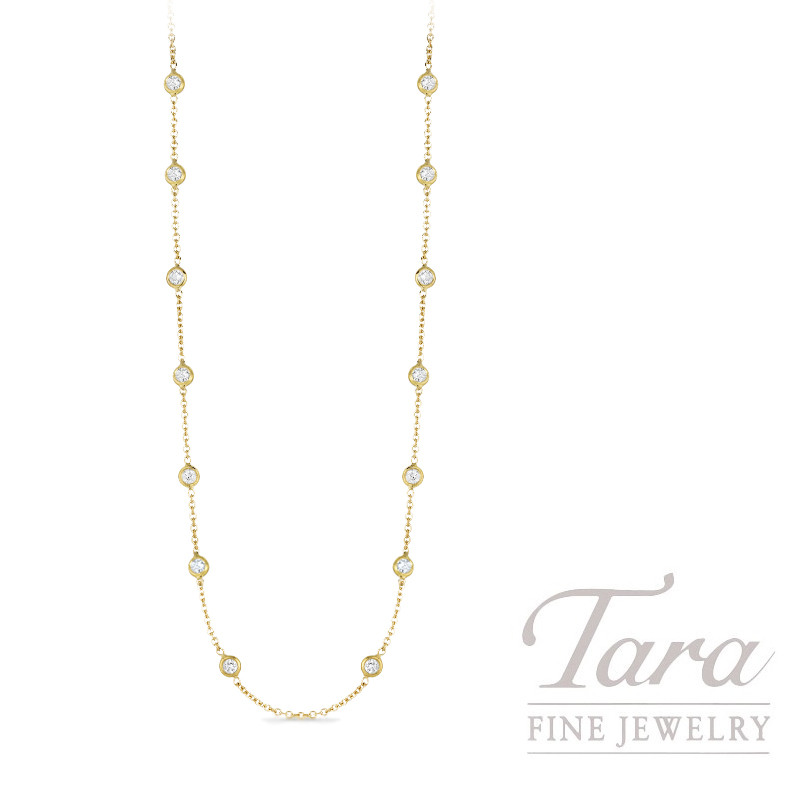 Roberto Coin 18k Yellow Gold Diamonds by the Inch Necklace, 2.55TDW, Diamonds by the Inch Collection