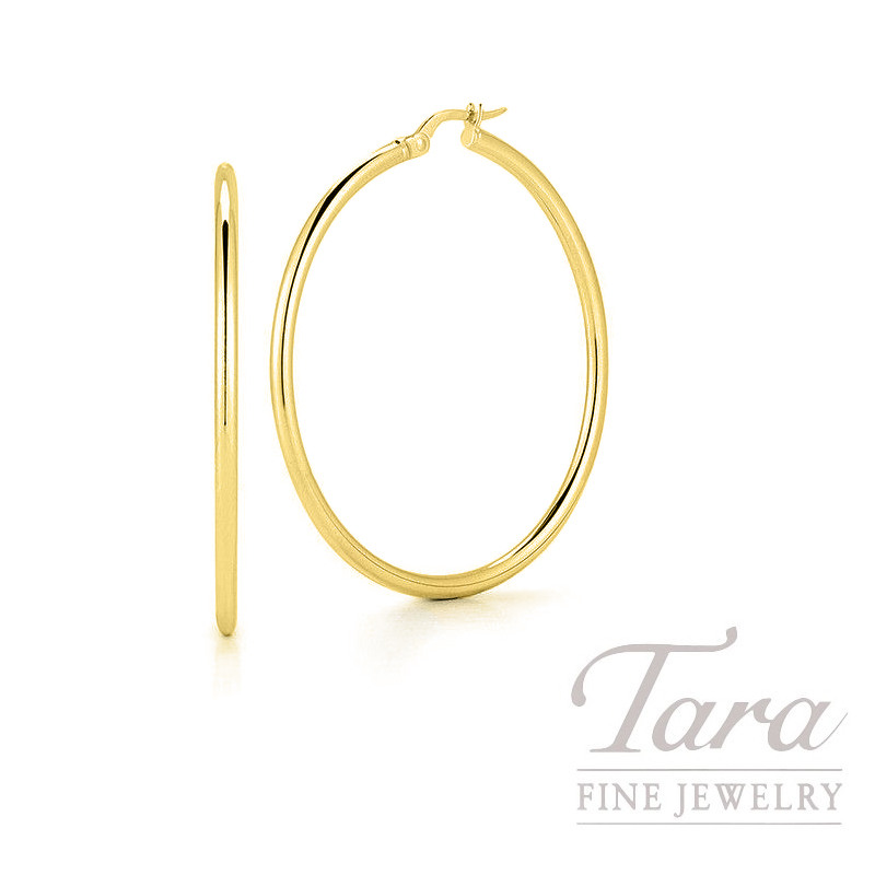 Roberto Coin 18K Yellow Gold Classic Hoop Earrings, 45mm, 4.5G