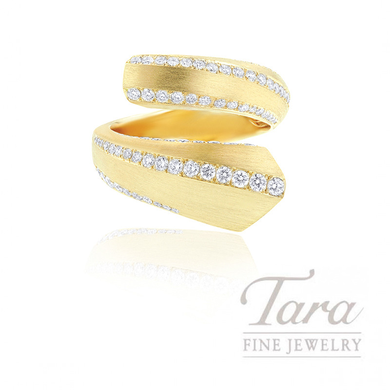 18k Yellow Gold Diamond Wrap Ring, 9.8G, 1.32TDW