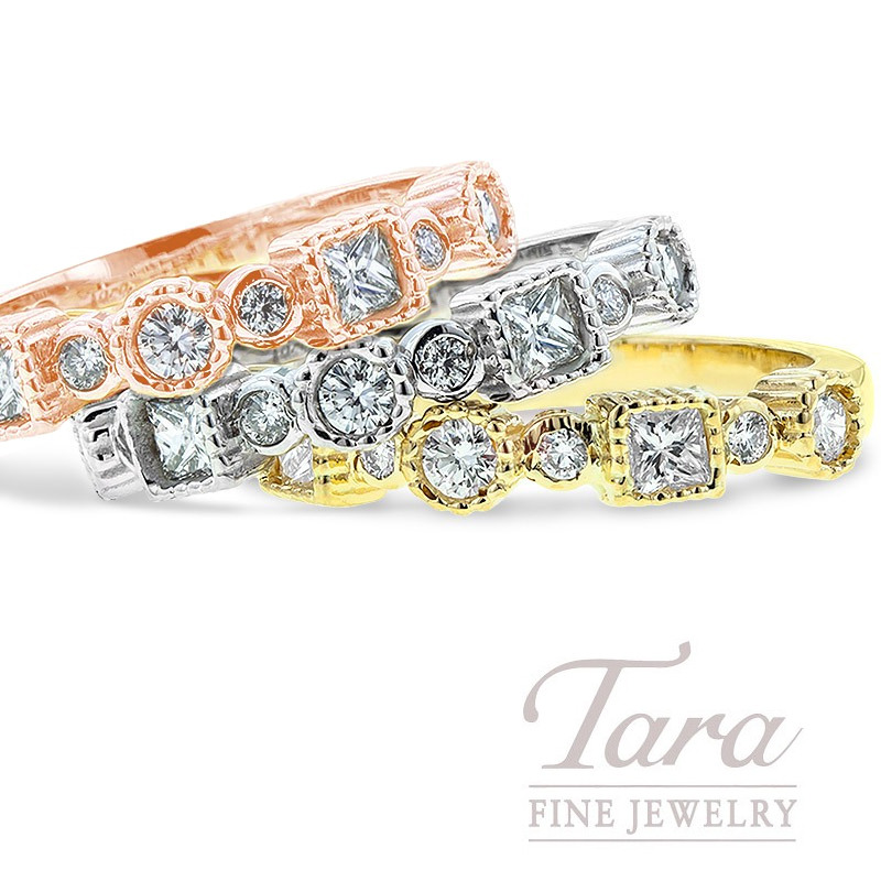 Diamond Band in 18K White, Yellow Or Rose Gold