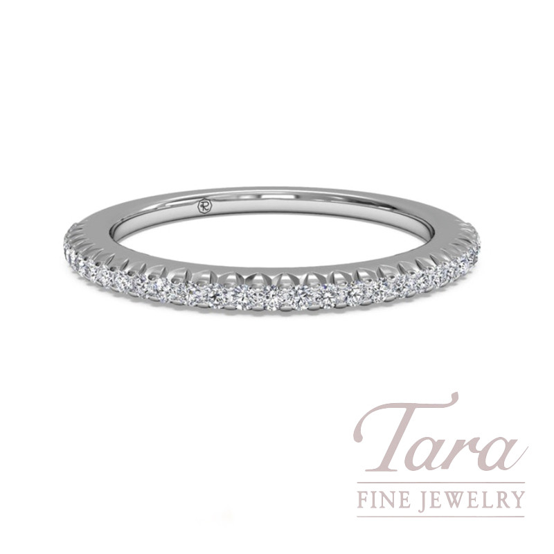 Ritani 18K White Gold Diamond Band, 2.3G, .18TDW