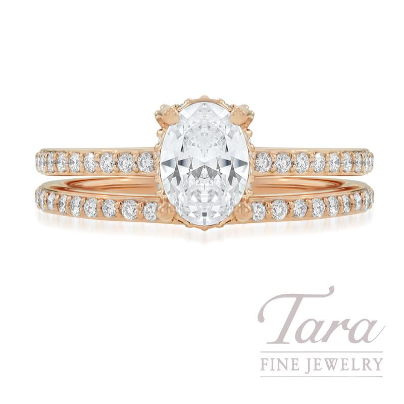 Ritani 18K Rose Gold Diamond Wedding Set, .44TDW (Center Stone Sold Separately)