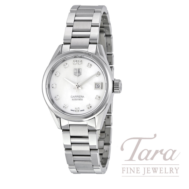 Tag Heuer 28mm Ladies Carrera Calibre 9 Automatic, .09TDW