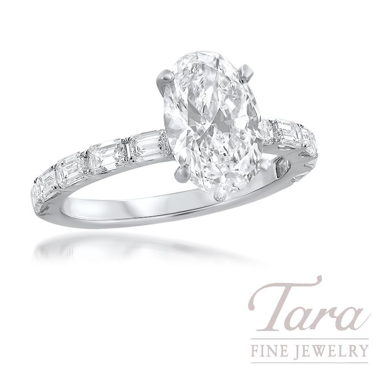 18K Gold Oval Shape Gemstone and White Diamond FALSE